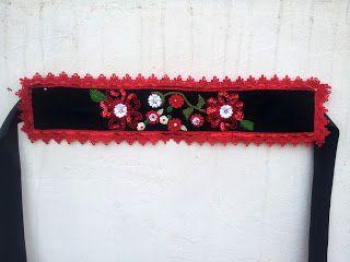 Mirela Mohjazi Handmade: Cordon tip folclor , cusut pe stofa, cu aplicatii ...