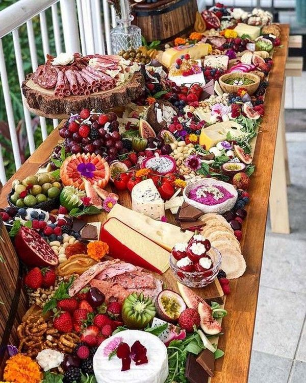 Wedding Food Tables: Trending-10 Epic Wedding Charcuterie Table Food Ideas For
