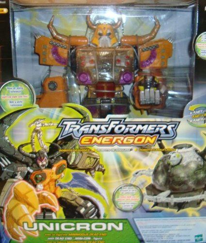 Transformers Energon Unicron Orange Version Rare  Produced by Hasbro in 2003.  Rare.  Approximate size of unopened packaging is 16″ x 14″ x 7.5″.  For ages 5+.  Tranformers, Robots in Disguise! Transformers Energon Unicron Electronic Action Figure! Transformers Energon Unicron Electronic Action Figure! Rare Orange Version! Transformers Energon Unicron Electronic Action Figure! Transformers Energon Unicron Electronic Action Figure! Rare Orange Version! Light Up Eyes and Fist!  Holds U..