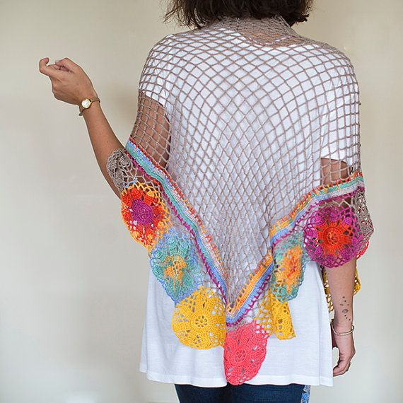 Crochet Shawl ,Crochet Scarf , Lace Shawl, Crochet Wrap, Knitted Shawl