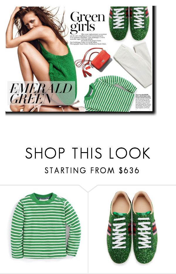 """""""Emerald Green"""" by atikazahra on Polyvore featuring Green Girls, Gucci and emeraldgreen"""