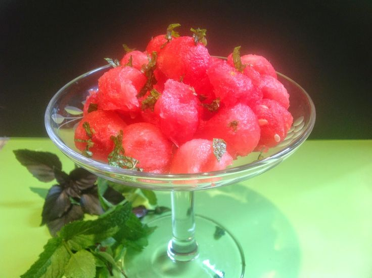 watermelon balls and mint