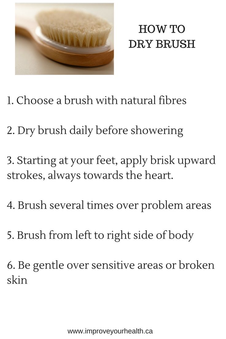 how to dry brush skin for improved stretch marks
