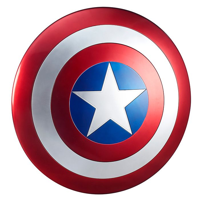 This Marvel Legends Captain America 24 Shield Isn T Made Of Vibranium But It Looks Like It Is While Y Captain America Shield Captain America Marvel Legends