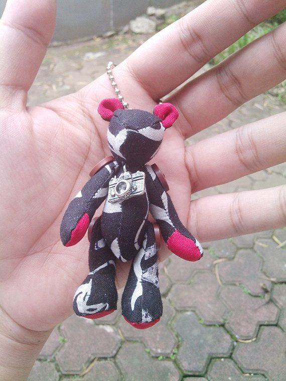 handmade teddybear keychain plush doll by aikoscloset on Etsy