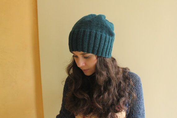 Slouchy beanie Mens winter hat Womens winter hat by MyTinyTree