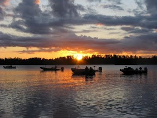 """The Atikokan Bass Classic is dubbed """"The Funnest Bass Tourney in the Northwest"""". Here the boats are waiting to take off in the morning. Courtesy of the ABC."""