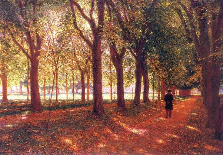 Ignacy Aleksander Gierymski, 1850-1901, Polish painter, The man in the alley, 1895