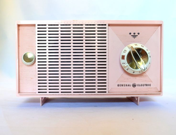 Vintage Pink General Electric Radio, Model T 125A, For Display, Photo Prop, Repurposing, Parts or Repair, 1950s by UpswingVintage on Etsy