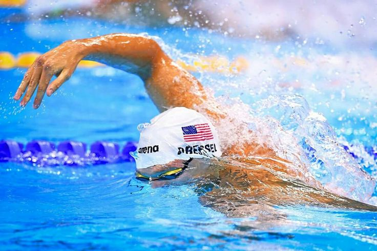 RIO DE JANEIRO, BRAZIL - AUGUST 09: Caeleb Dressel of the United States competes…