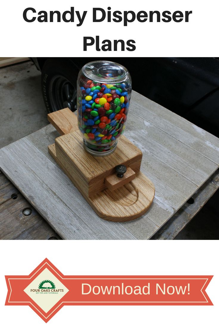 DIY Woodworking Ideas Get detailed downloadable plans for making a wooden candy dispenser. In this 10-...