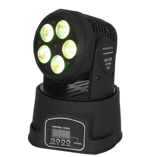 CABEZA MOVIL DE LED 6-EN-1 RGBWA UV