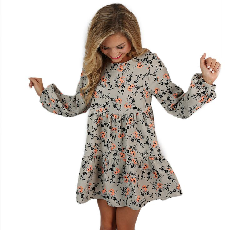 Fall Into Winter Babydoll Dress | Impressions Online Women's Clothing Boutique
