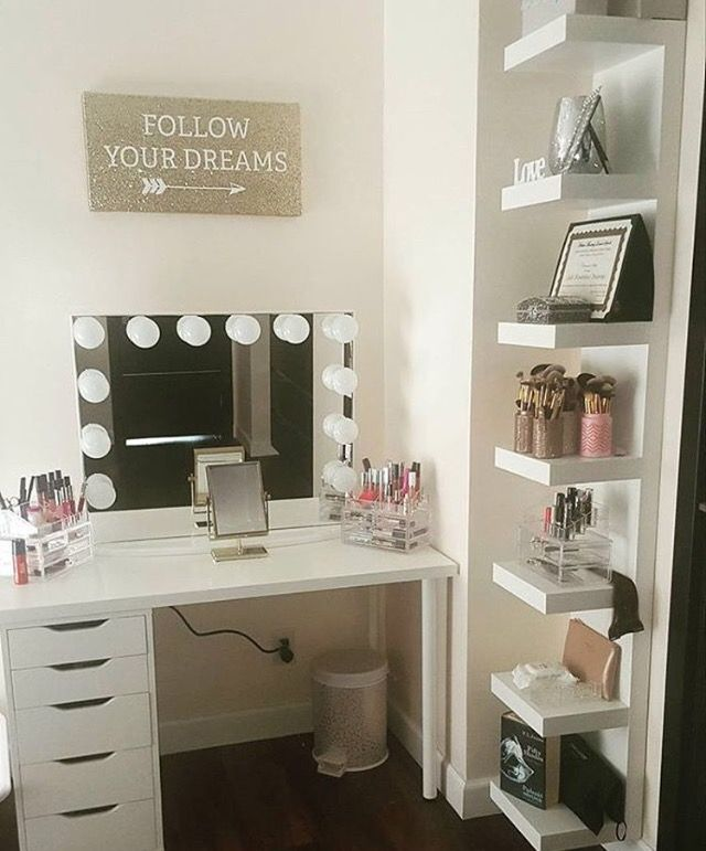 Simple and clean with lots of storage326 best vanity images on Pinterest   Makeup storage  Beauty room  . Makeup Vanity With Lots Of Storage. Home Design Ideas