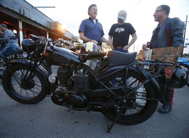 Tucson Vintage Motorcycle Riders meet to talk, admire bikes.