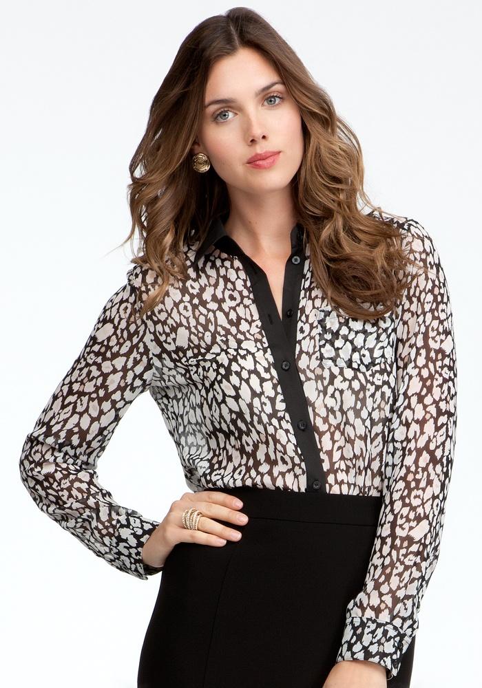 Leopard Print Button Up Blouse - Indulgnce Leopard #5 - Xs