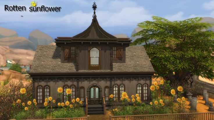 Mod The Sims - Rotten sunflower | Sims 4 houses, Spooky ...