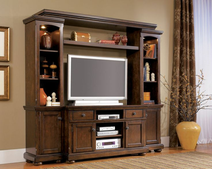 essence 4pcs rustic cottage birch 55 tv entertainment center new living room home decor. Black Bedroom Furniture Sets. Home Design Ideas
