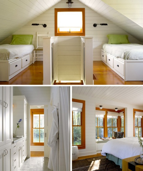 attic ideas: Attic Ideaz, Attic Bedrooms, Rooms Attic, Attic Spaces, Design Ideas, Attic Remodel, Houses Ideas, Attic Ideas, Plans Ideas