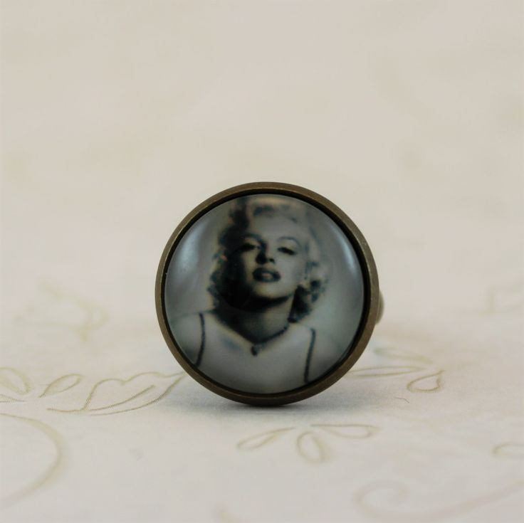 Marilyn Monroe Ring 50s Jewelry Adjustable Ring Antique Bronze Vintage Style Ring Celebrity Ring Gift for her (10.00 USD) by MonaLaina