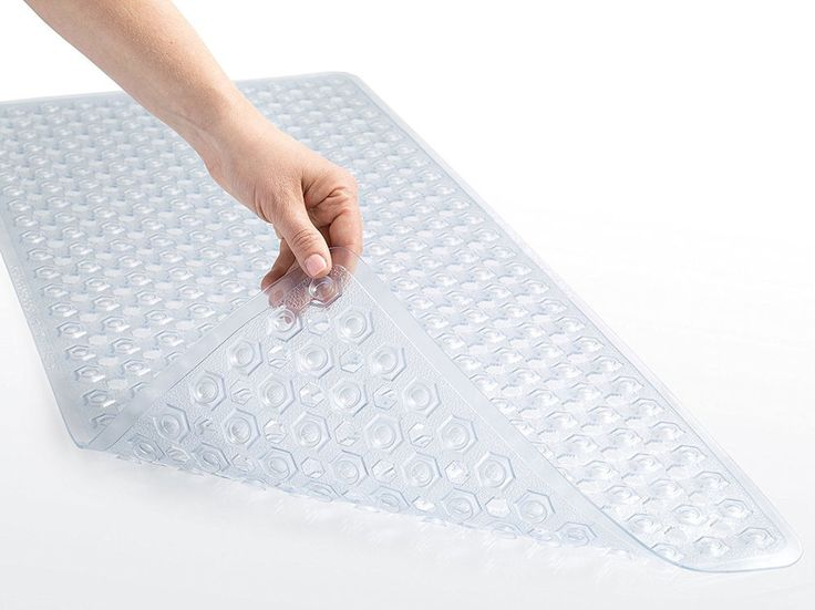 Bath And Shower Mat Non Slip Washable Antibacterial Home Hotel 35x16 Clear