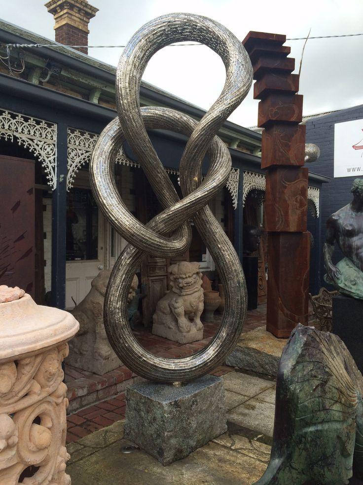 Stainless steel 'glimmer' sculpture