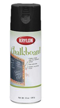 Krylon®Chalkboard Paints Аэрозольная краска ГРИФЕЛЬНАЯ ДОСКА