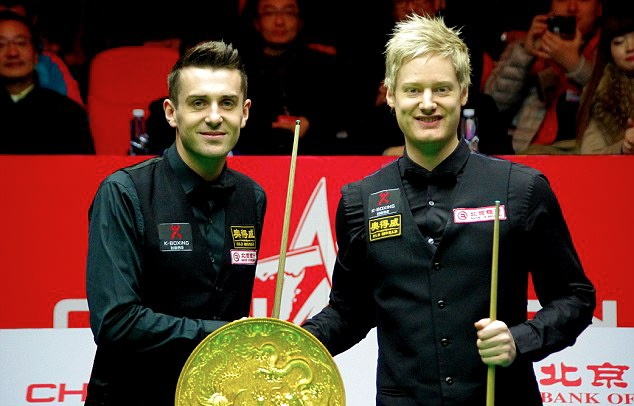 Mark Selby (L) and Neil Robertson (R), Bank of Beijing China Open 2013, Finals