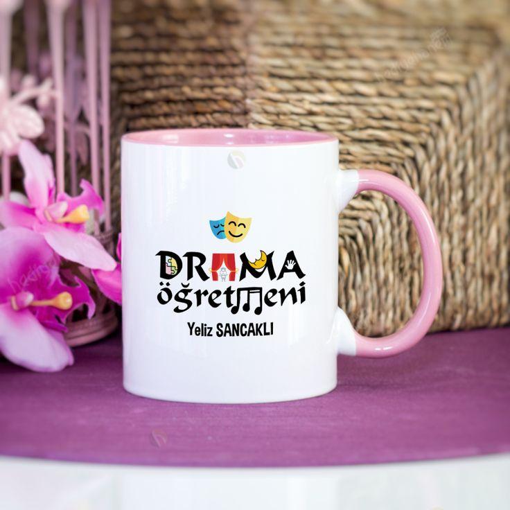Drama Öğretmeni Kupa Bardak - Pembe - 002