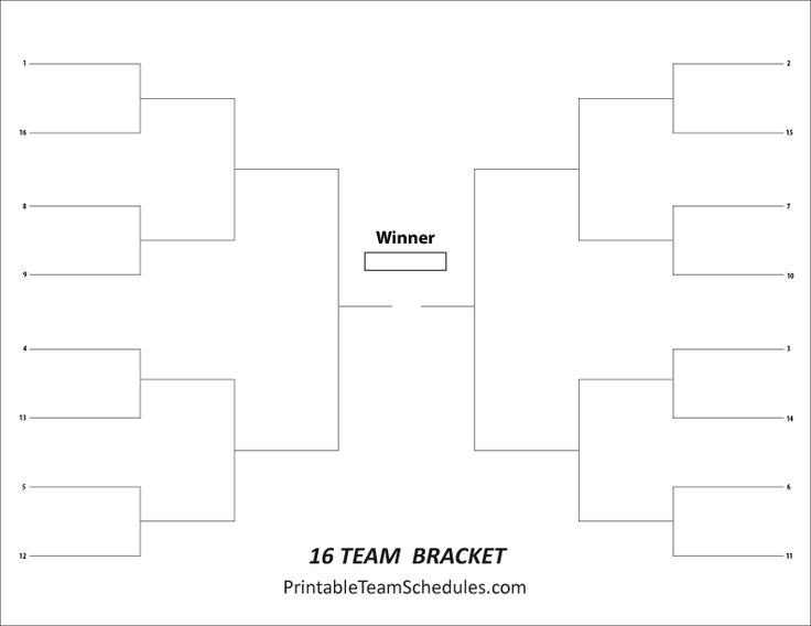8 Best Tournament Brackets - Free Printable Brackets Images On