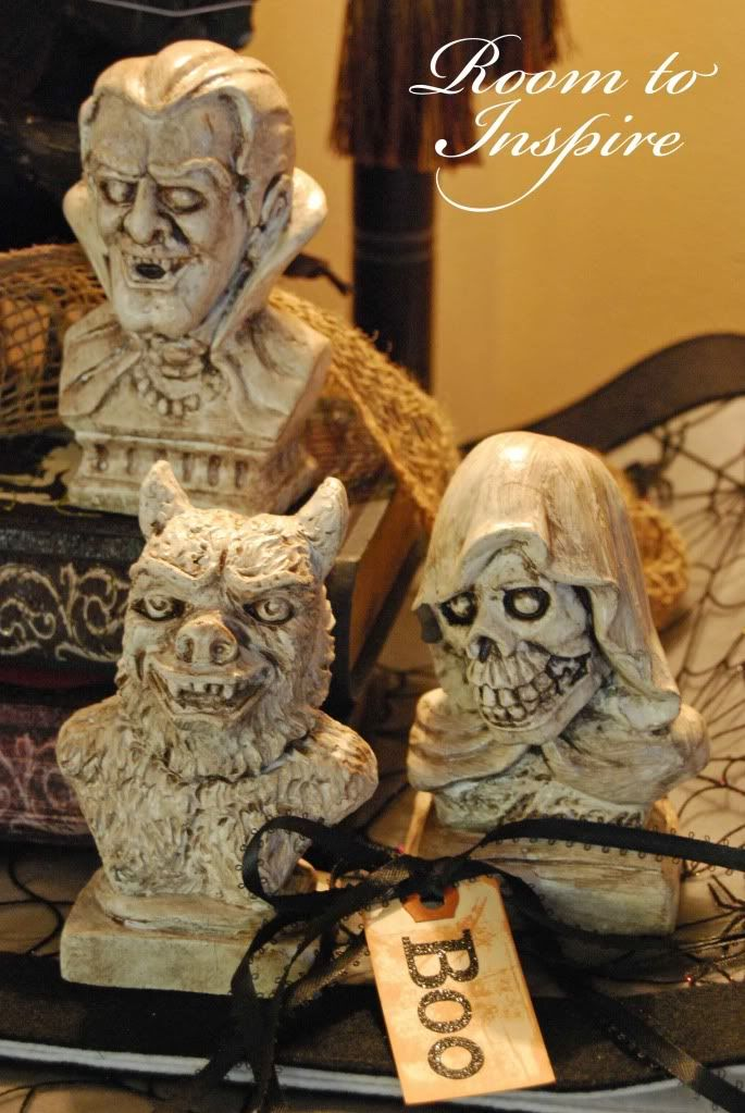 awards dollar store halloween project ugly little faces but nice effect and easy now is the time to start shopping for halloween things - Halloween Statues