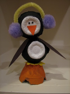 Peguin for egg carton