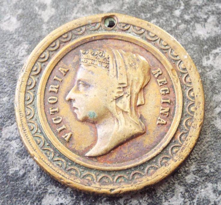 Antique Hornsey 1887 Queen Victoria Golden Jubilee Bronze Medal