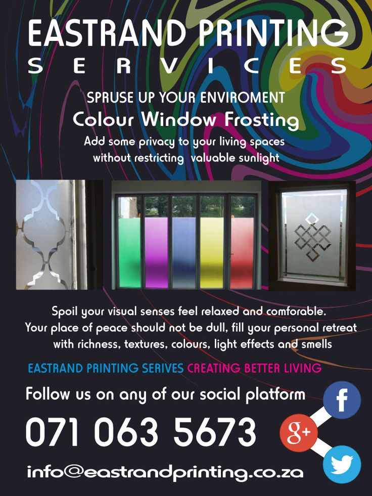 Window Frosting, Decor, Home design