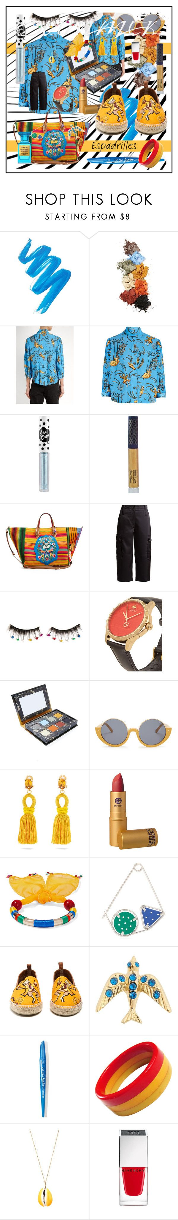 """""""Send in the Clowns: Summer Espadrilles"""" by haikuandkysses on Polyvore featuring Loewe, Lime Crime, Christian Louboutin, Marni, Oscar de la Renta, Rosantica, Isabel Marant and Givenchy"""