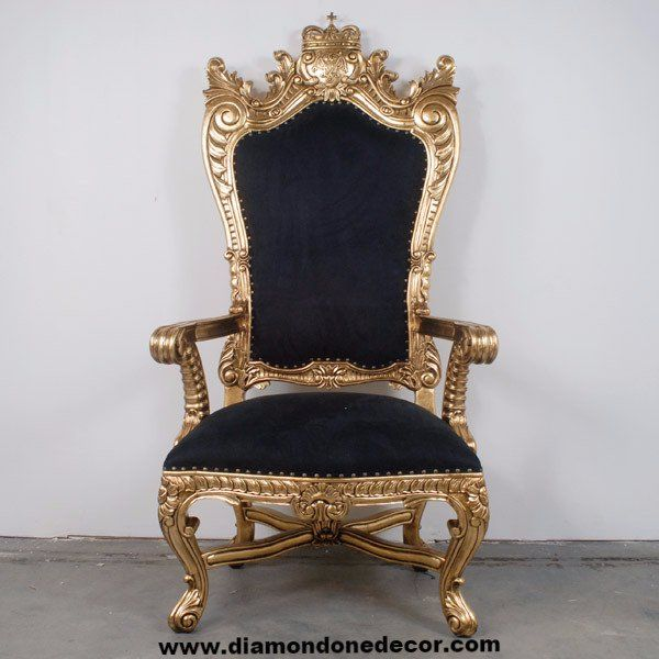 Pirate's King Regency Style French Reproduction Throne Chair | Diamond One Decor