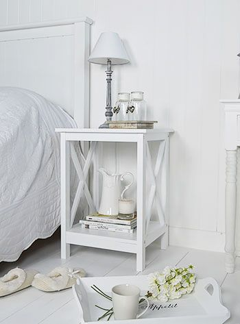 Beau Henley White Bedside Table. Simple In Design For A White Bedroom