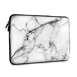 iCasso Apple Macbook Laptop Bag For Macbook 13 Inch - New Art Image Soft Neoprene 13-inch/Notebook Computer MacBook Air/ MacBook Pro Sleeve Case Bag Cover - White Marble