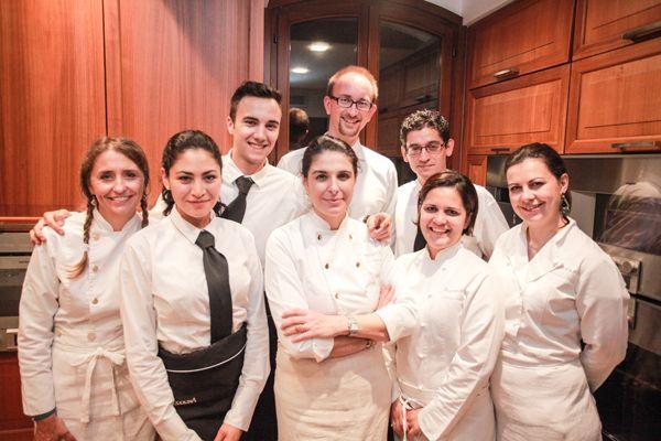 Lo staff di Acquolina, il catering di Marika Contaldo Seguso che ha cucinato per noi