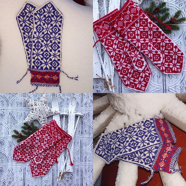 Ravelry: Tindra mittens pattern by JennyPenny