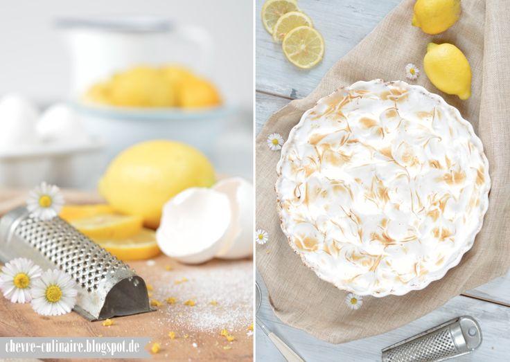 Chèvre culinaire: [Rezept] Tarte au citron - Zitronentarte mit Baiserhaube