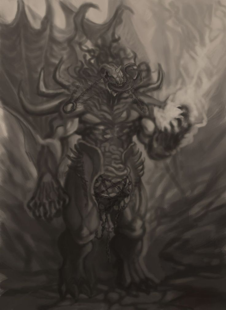 Old work from 2009, B n W concept of belial one of the lesser evils of Diablo - the game.