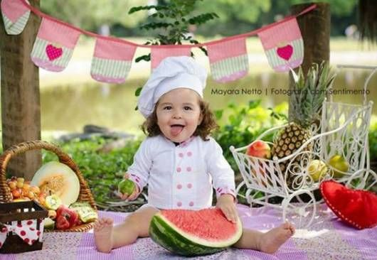 roupa chef criança