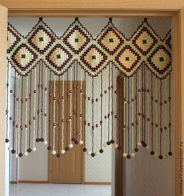 Luty Artes Crochet: Cortina de crochê