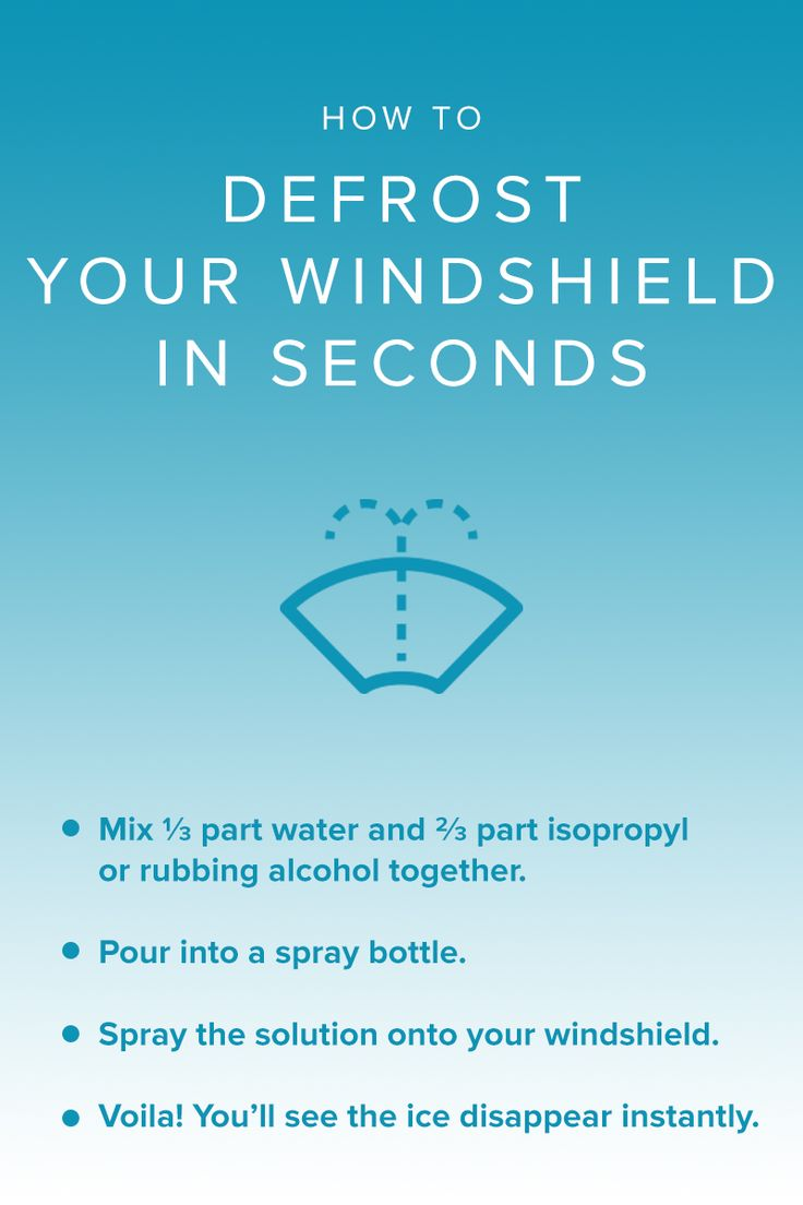 This recipe for a simple, homemade mixture will get rid of the frost on your windshield in seconds!