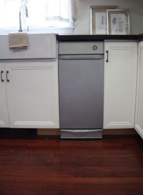 spray paint appliances with stainless steel paint to make them match with out having to replace them! LOVE IT!
