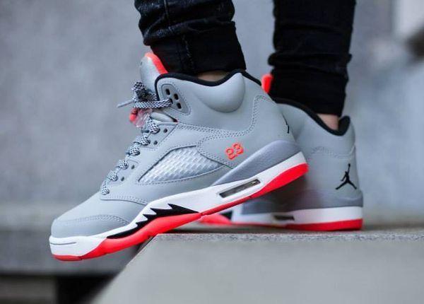 Air Jordan 5 Retro GG 'Wolf Grey/Hot Lava' post image   Air ...