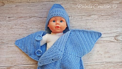 Crochet Pdf Pattern- Star baby bunting-Baby Cocoon