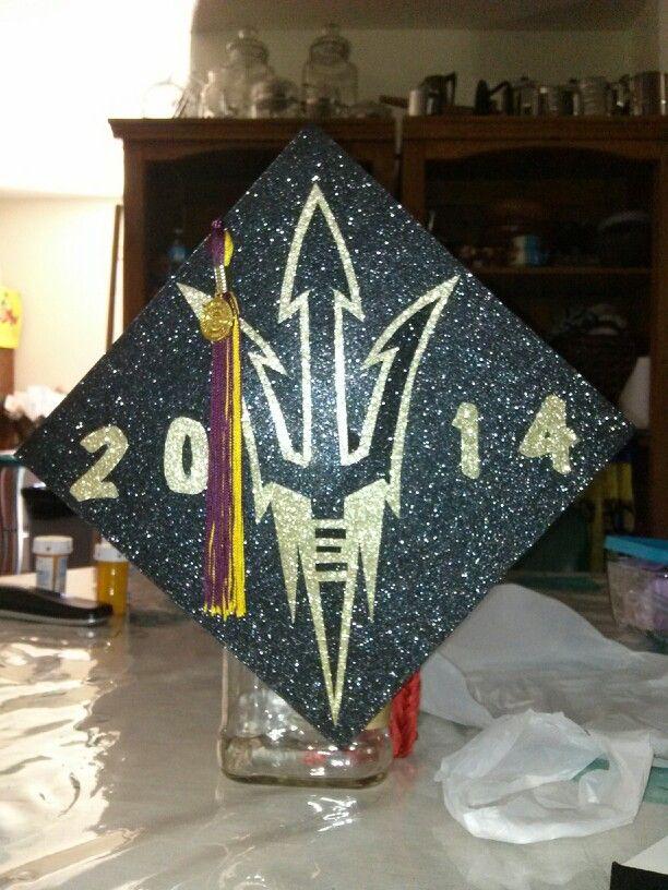 Arizona State Graduation Cap Decoration ~ ASU~ Congratulations to my cousin Alyana Rodriguez. So Proud BIG GURL! GO DEVILS!