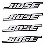 Bose Aluminium-Auto-Tür/HIFI LAUTSPRECHER Logo Emblem Badge Aufkleber Decal-4Stück